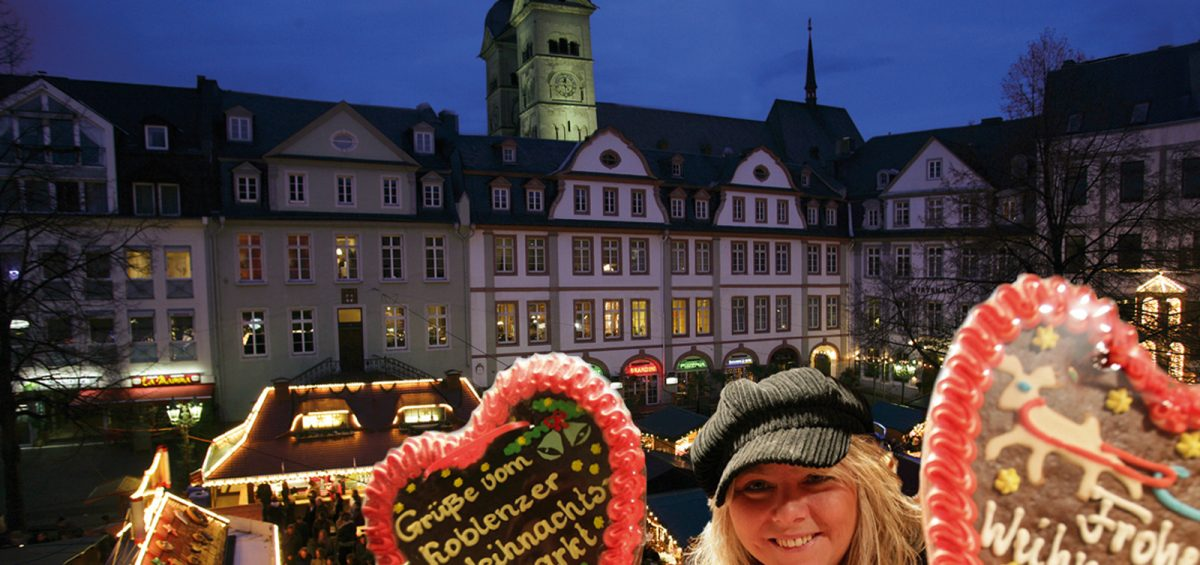 Romantische Weihnacht am Deutschen Eck