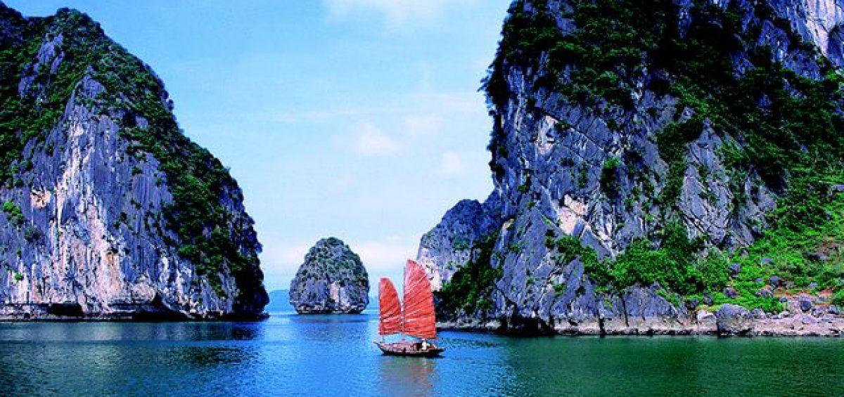 Welterbe Halong-Bucht in Vietnam.