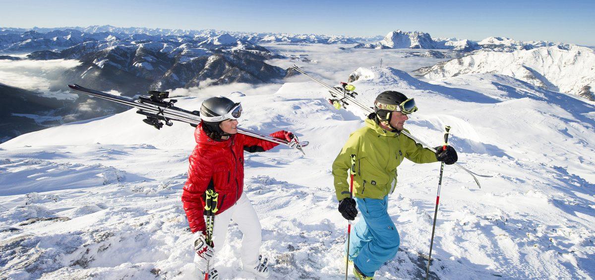 Vielfältig und weitläufig: Im Pillerseetal locken drei Skigebiete zum Sonnenskilauf.