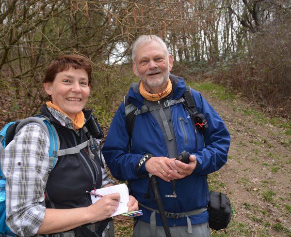 Wanderexperten Ulrike Poller und Wolfgang Todt